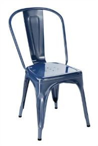Tolix A stol, 2-pack, svart,klarlackad