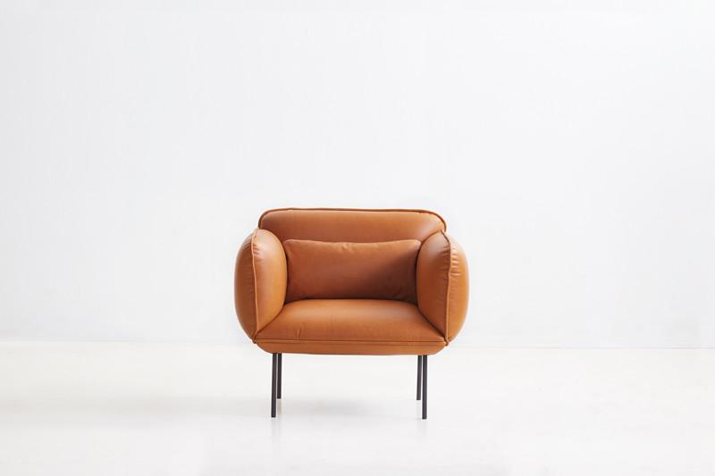 lounge fåtölj skinn