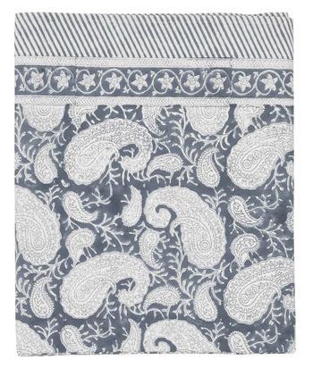 Chamois-paisley-duk-ocean blue, 3 storlekar