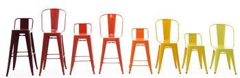 70%Rabatt,TOLIX vit barstol med högt ryggstöd, 75 cm ,