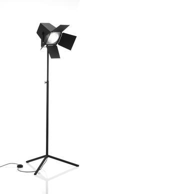 Zero-Foto golvlampa med ställbart stativ
