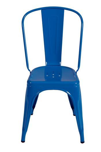 Tolix A stol ,RAL 5015 Himmelsblå