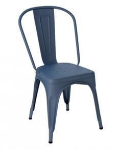 Tolix A stol ,blåbär,matt struktur