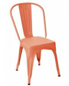 Tolix A stol , Korall, matt struktur