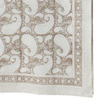 Chamois-paisley-duk soft beige
