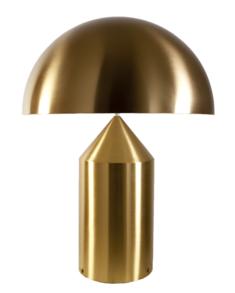 Oluce-Atollo 233 ,stor, guld