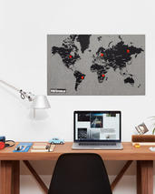 Palomar Pinworld map Världskarta för väggen