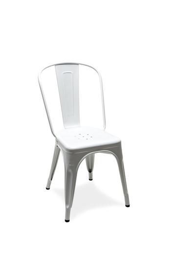 Tolix A stol, 2-pack ,RAL 9003, Vit