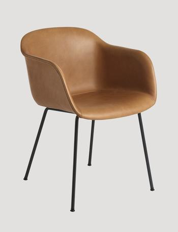 Muuto Fiber leather chair, tube base