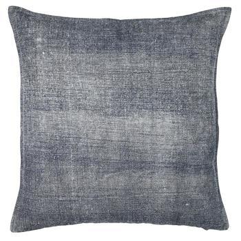 Chamois-borstad bomull kuddfodral jeansblå
