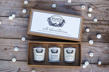 Klinta -3x doftljus-lilla klinta kollektionen