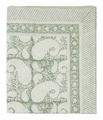 Chamois-paisley-duk sea foam, 3 storlekar