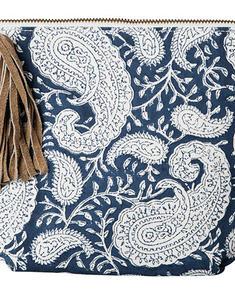 Chamois- paisley -necessär,blå