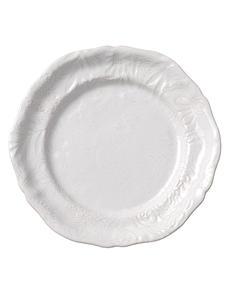 Sthål- Arabesque -tallrik vit