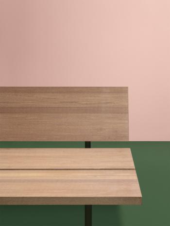 Fast-New Wood plan-bänk