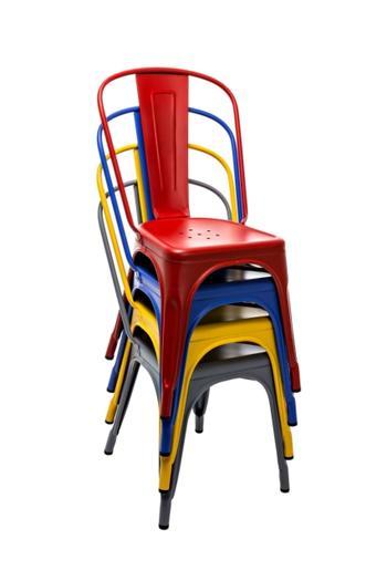 Tolix stol A, 2-pack, Le Corbusier färger