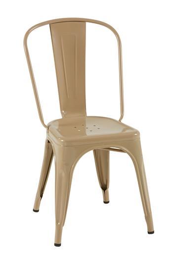 Tolix A stol,RAL 1019, Gråbeige