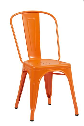 Tolix A stol, 2-pack ,RAL 2003,Orange