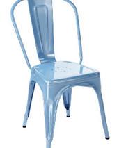 Tolix A stol, 2-pack, azurblå,klarlackad