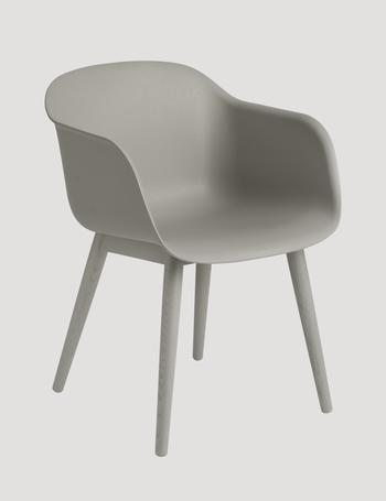 Muuto Fiber armchair, wood base