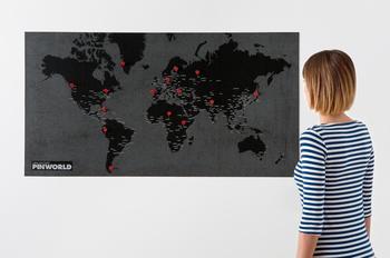 Palomar Pinworld map ,världskarta för väggen