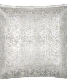 Chamois-metallskimrande kuddfodral,silver