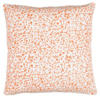Chamois-kuddfodral-liten blomma-orange