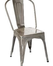 Tolix A stol, lackad metall
